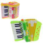 Музыкальная игрушка гармонь «Весёлые нотки», 17 клавиш, МИКС - фото 105637437