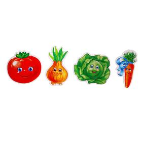 Мягкие пазлы «Овощи», 4 элемента