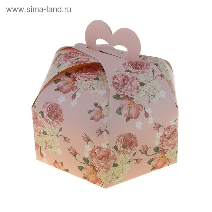 "Коробка сборная ""Розочки"", цвет розовый"