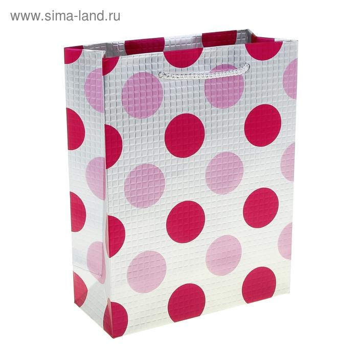 """Пакет ламинированный """"Горох. Фактура"""", цвет розовый"""