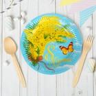 """Набор бумажных тарелок """"8 марта"""" (6 шт.), 18 см"""