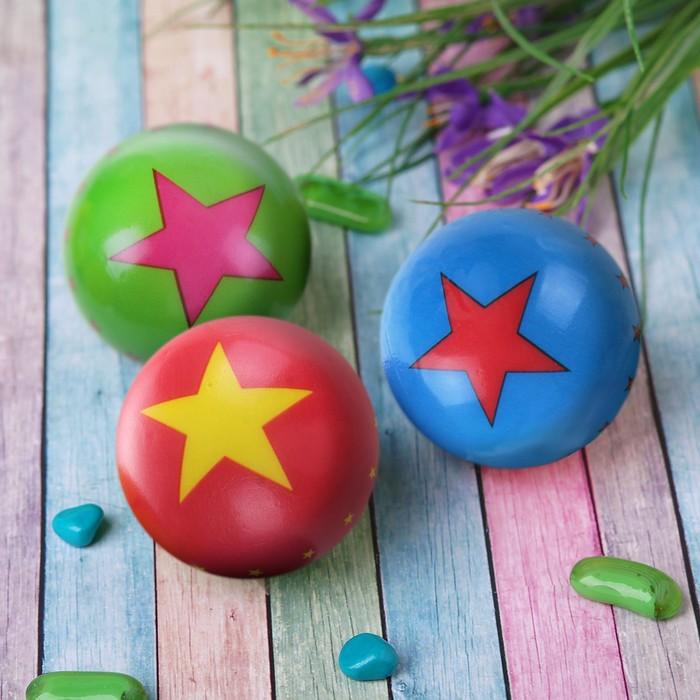 "Мягкий мяч ""Звёзды"", 6,3 см, цвета МИКС"