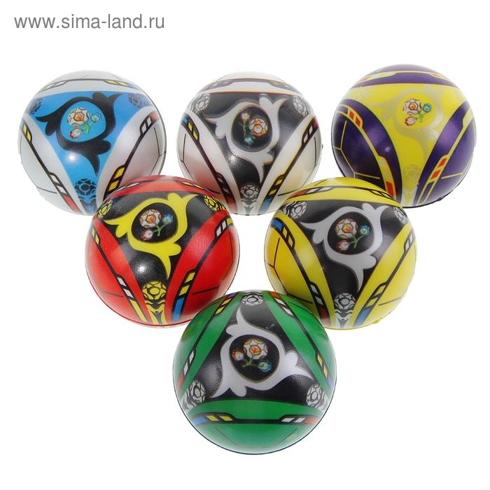 """Мягкий мяч """"Узоры"""", 6,3 см, цвета МИКС"""