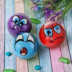 "Soft ball ""Funny faces"", 6.3 cm, MIX colors"