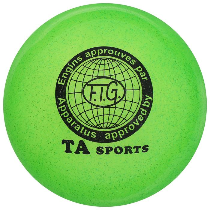 """Мяч для гимнастики """"Блеск"""", 15 см, цвет: салатовый"""
