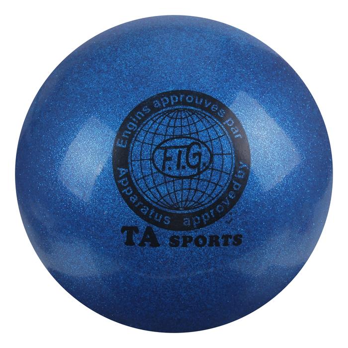 """Мяч для гимнастики """"Блеск"""", 20 см, цвет: синий"""