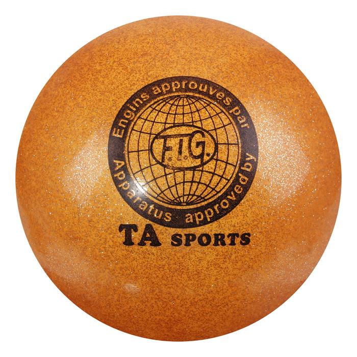 """Мяч для гимнастики """"Блеск"""", 18.5 см, цвет оранжевый"""