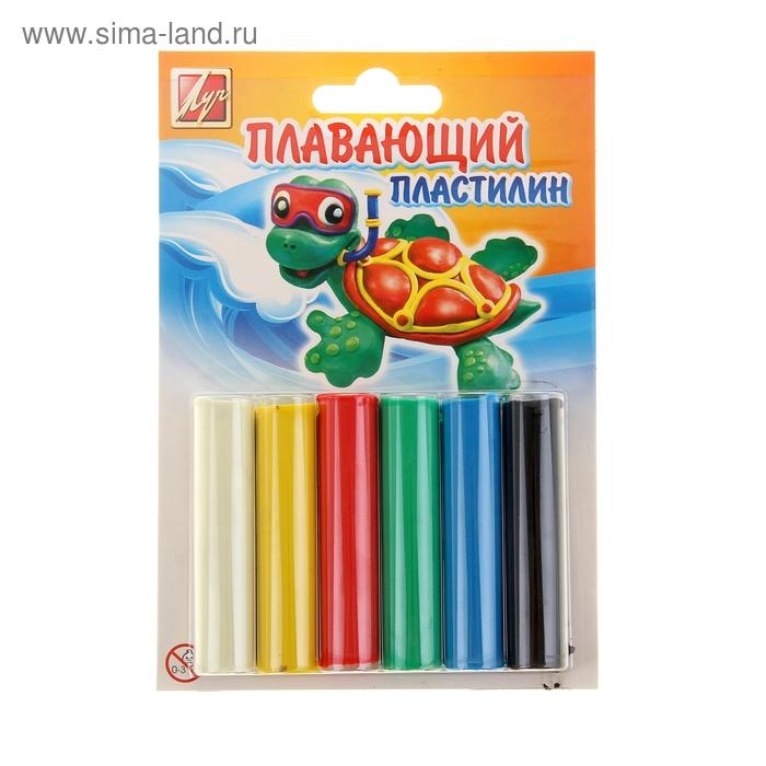 "Пластилин 6 цветов ""Плавающий"""