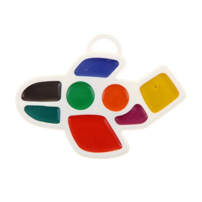 Акварель «Луч Самолетик», 8 цветов, в пластиковой коробке, без кисти