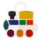 Акварель «Луч», «Паровозик», 9 цветов, в пластиковой коробке, без кисти