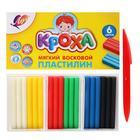 """Пластилин мягкий восковой 6 цветов 99 г """"Кроха"""""""