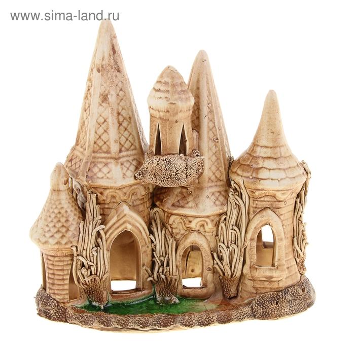 """Декорации для аквариума """"Замок"""" навесная башенка"""