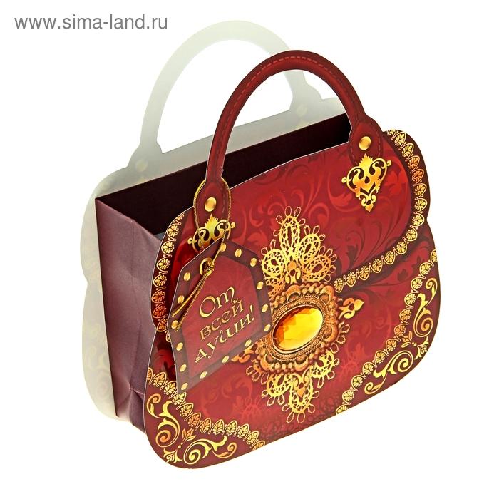 Пакет–сумка ламинат «Кружевная», 18 х 20 см