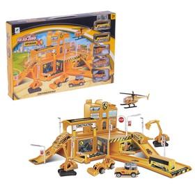 Парковка «Строительство здания», 4 машины + 1 вертолет