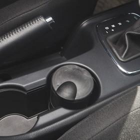 Пепельница для авто с крышкой, подсветка, 10×7 см, черный