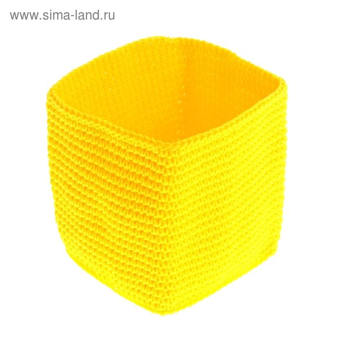 "Корзина ""Простота"", желтая, 12х12х13 см"