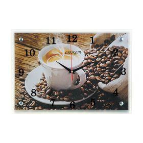 """Часы настенные прямоугольные """"Чашка кофе"""", 25х35 см"""