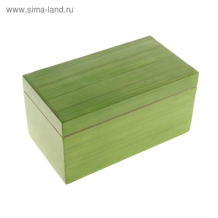 """Шкатулка бамбуковая """"Зеленый лак"""""""