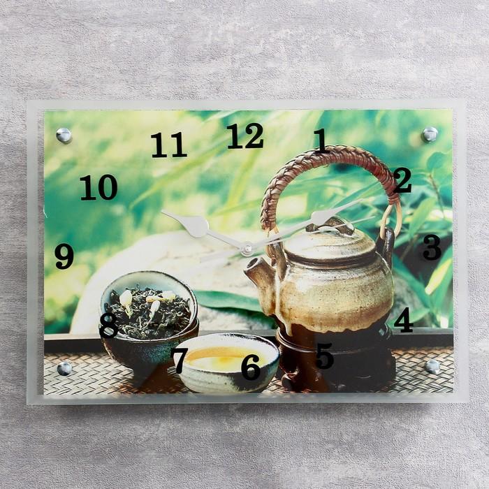 """Часы настенные прямоугольные """"Чайничек чая"""", 25х35 см"""