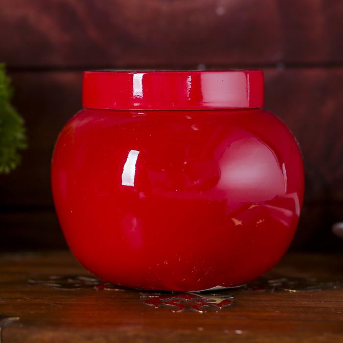 """Ёмкость для хранения """"Красный глянец"""", бамбук"""