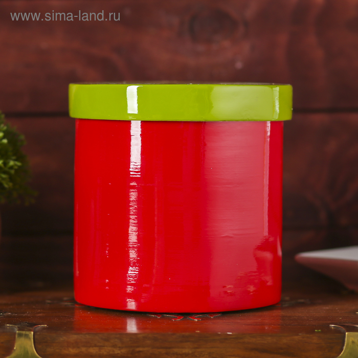 """Ёмкость для хранения """"Красное и зелёное"""", бамбук"""