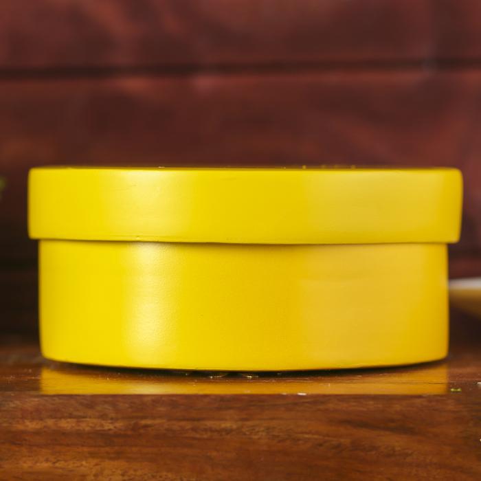 "Ёмкость для хранения ""Жёлтый глянец"", бамбук"