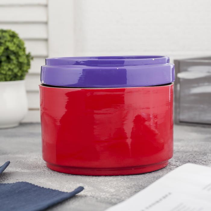 """Ёмкость для хранения """"Красное и фиолетовое"""", бамбук"""