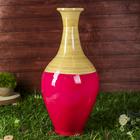 "Ваза интерьерная ""Розовый глянец"", из бамбука"