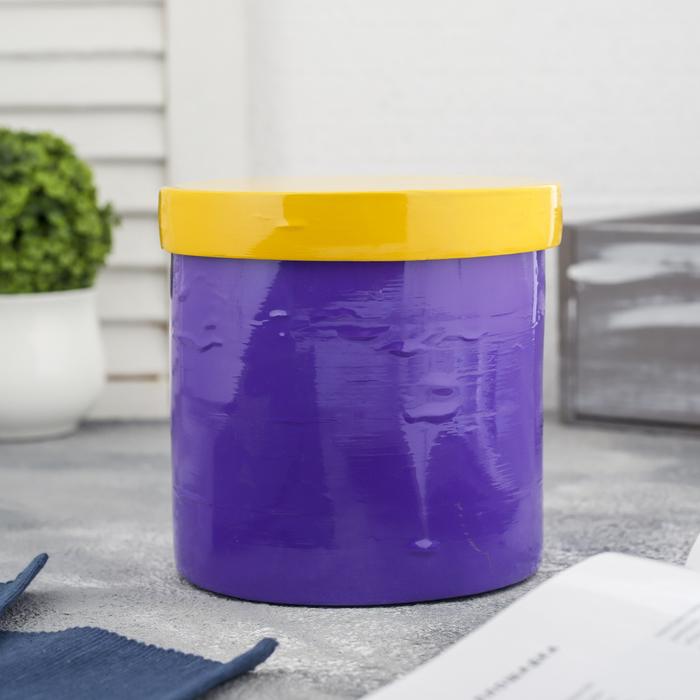 """Ёмкость для хранения """"Жёлтое и фиолетовое"""", бамбук"""
