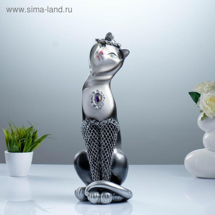 "Сувенир ""Кошка Анжелика Кокетка"" серебро"