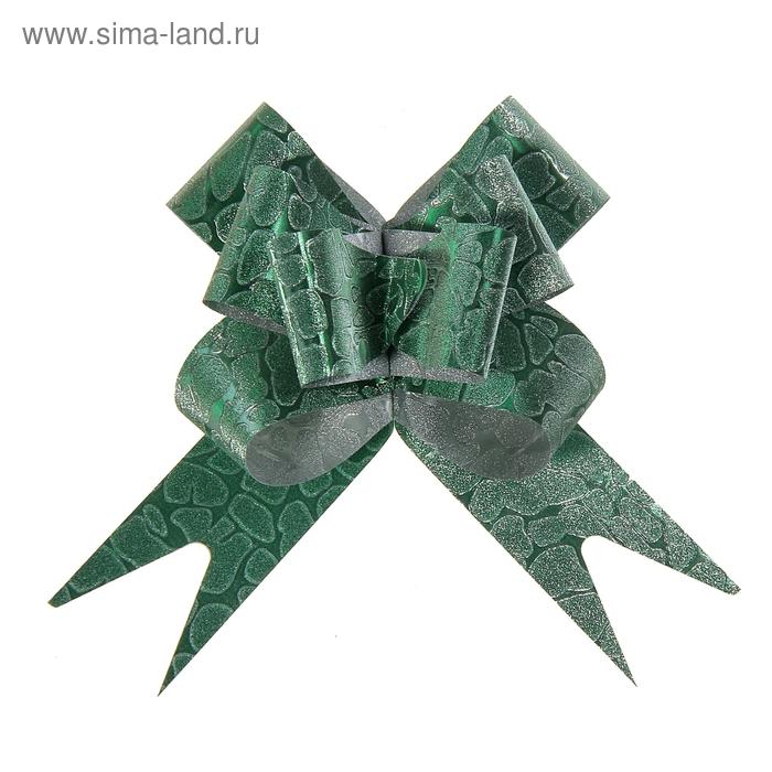 "Бант-бабочка № 3 ""Питон"", цвет зелёный"