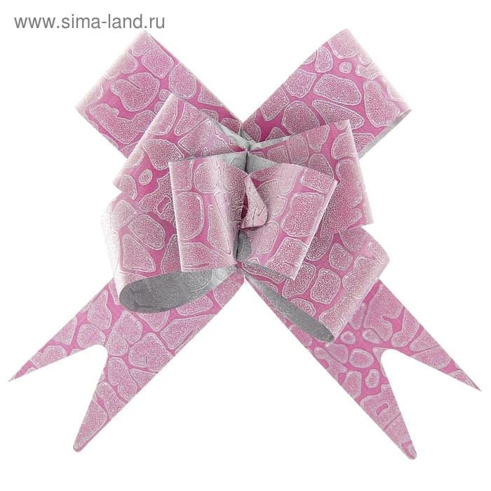 "Бант-бабочка № 3 ""Питон"", цвет розовый"