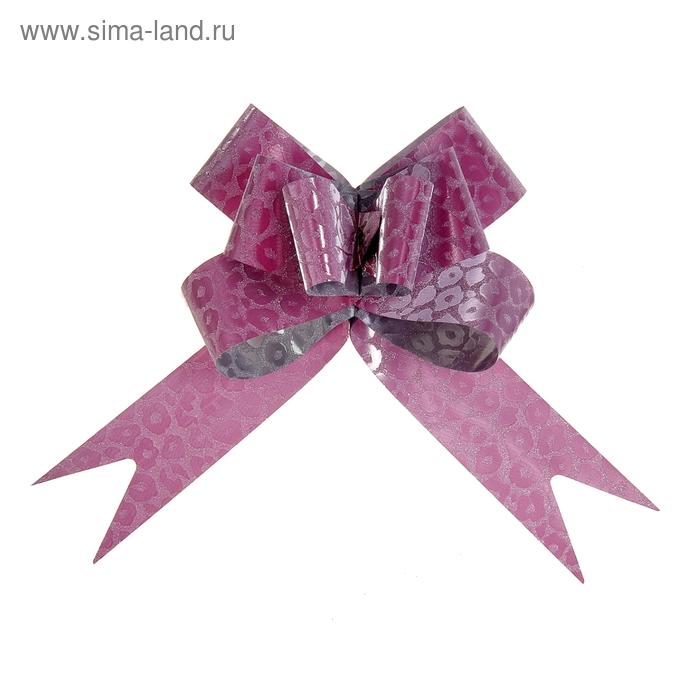 "Бант-бабочка № 4,5 ""Леопард"", цвет розовый"