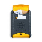 Ящик почтовый «Стандарт», вертикальный, с замком, с накладкой, пластик, цвет серо-жёлтый