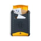 Ящик почтовый «Стандарт», вертикальный, с замком, цвет серо-жёлтый