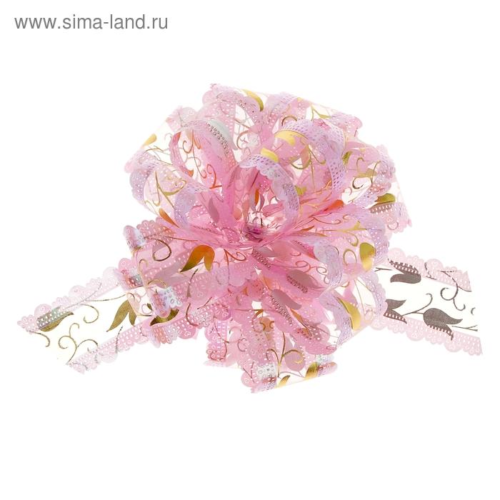"""Бант-шар № 5 """"Тюльпаны"""", цвет розовый"""