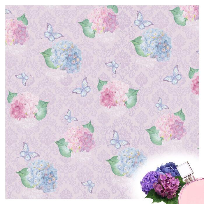"""Набор ароматизированной бумаги тишью для упаковки """"Восхитительные цветы"""", 5 листов, 50х70 см, 20 г/м2"""