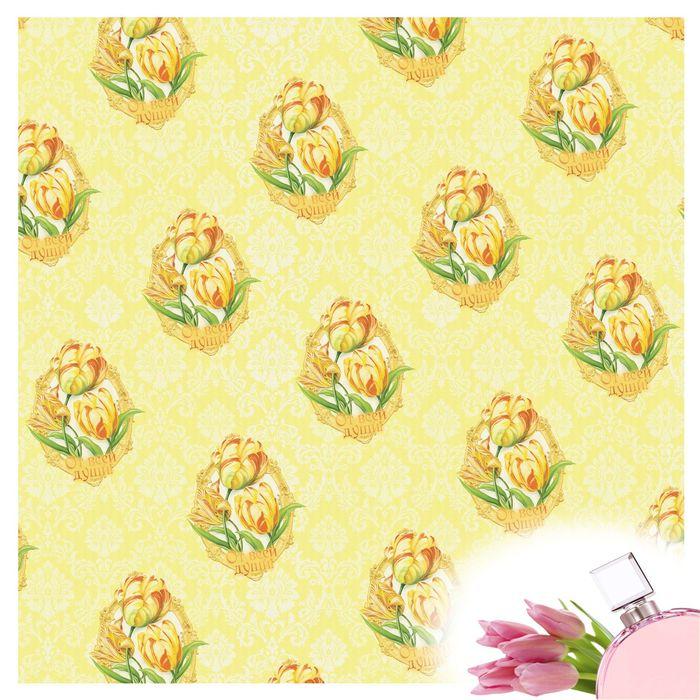 """Набор ароматизированной бумаги тишью для упаковки """"Роскошный тюльпан"""", 5 листов, 50х70 см, 20 г/м2"""