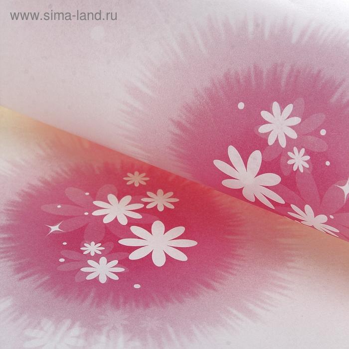 "Бумага упаковочная ""Розовая комета"", цвет белый"
