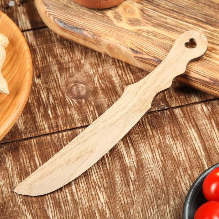 Нож для масла и икры, массив дуба 20 х 3 см