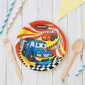 "Set paper plates ""champion"" (6 PCs.), 18 cm"