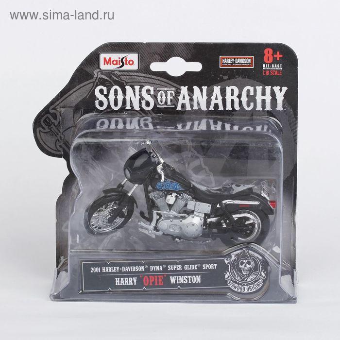 "Модель мотоцикла 1:18 Harley-Davidson FL Knucklehead-John ""JT"" Teller"