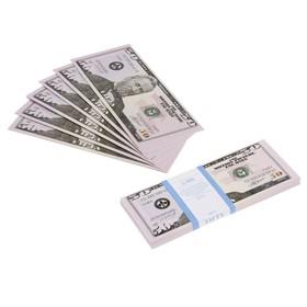 пачка купюр 50 долларов