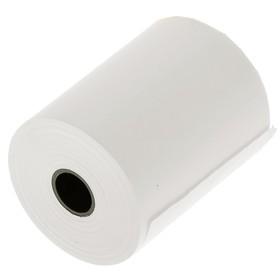 Чековая лента термо 57 мм 27 м 57 х12 х 27, диаметр ролика 43 мм, чёрный оттиск Ош