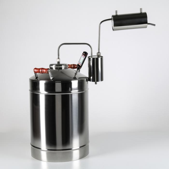 Самогонный аппарат «Премиум» 20 л, с электронным термометром и деревянными ручками