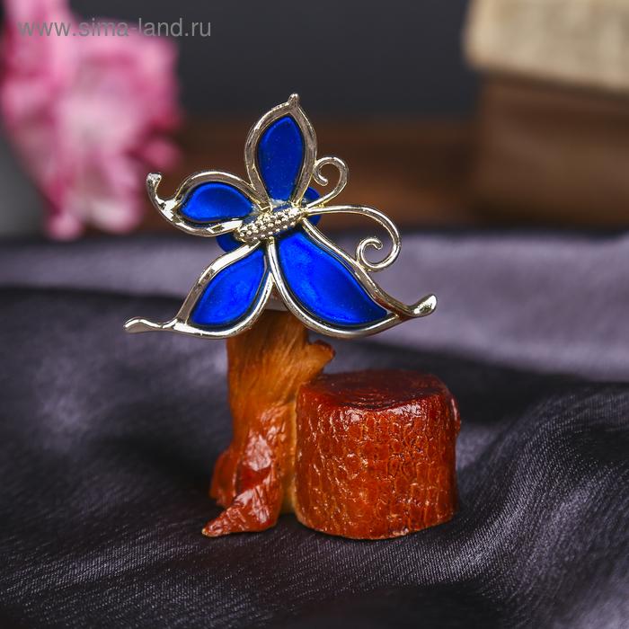 """Денежное дерево """"Бабочка"""", цвет синий"""