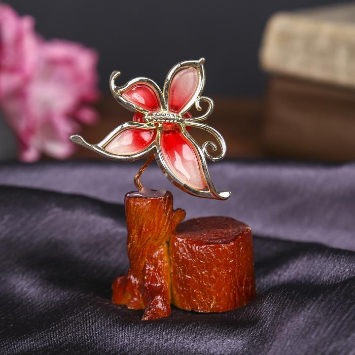 """Денежное дерево """"Бабочка"""", цвет красный"""