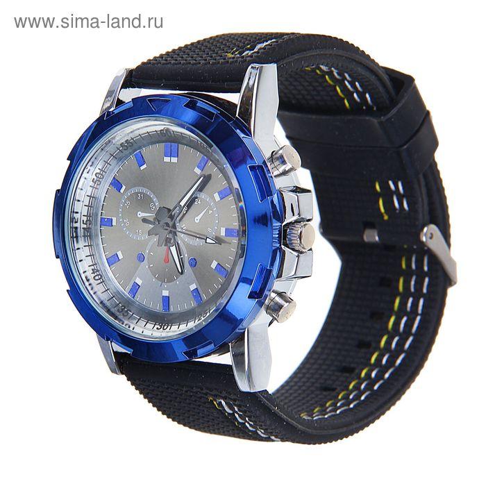 Часы мужские, силиконовый ремешок, с переливащейся подсветкой, имитация хронографа  микс