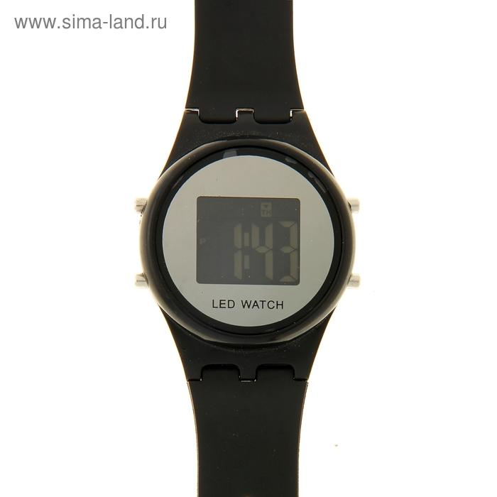 Часы наручные LED мужские электронный на силиконовом ремешке с подсветкой