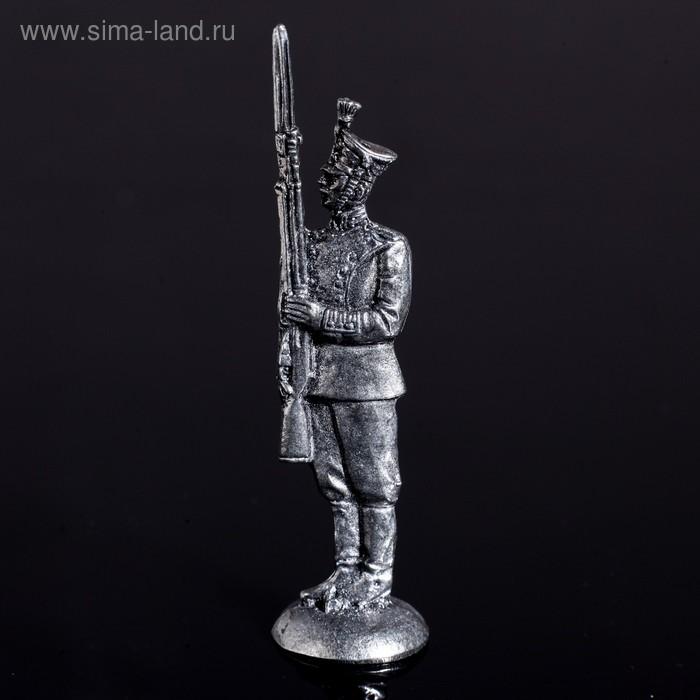 """Оловянный солдатик """"Рядовой Преображенского полка"""""""